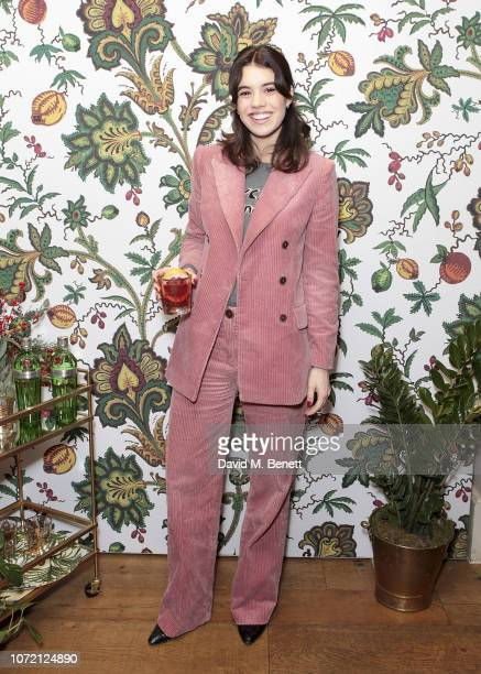Gala Gordon attends the launch of Tanqueray No TEN and House of Hackney's exclusive partnership at Petersham Nurseries on December 12 2018 in London...