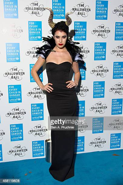 Gala Gordon attends the UNICEF Halloween Ball at One Mayfair on October 30 2014 in London England