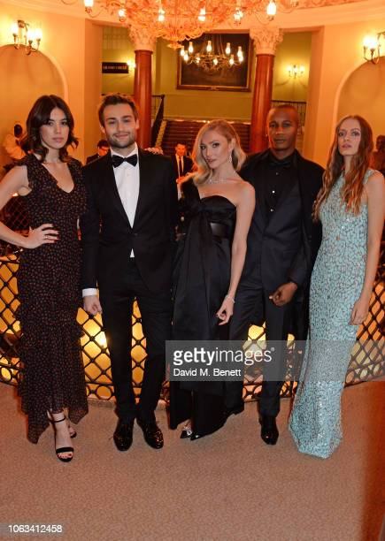 Gala Gordon Douglas Booth Clara Paget Eric Underwood and Idina Moncreiffe attend The 64th Evening Standard Theatre Awards at the Theatre Royal Drury...