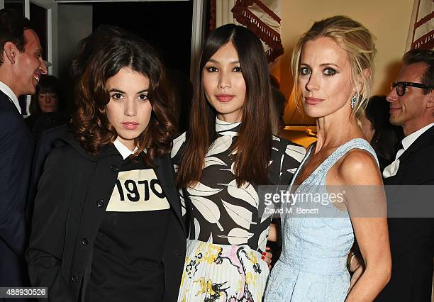 Gala Gordon Gemma Chan and Laura Bailey attend the London Fashion Week party hosted by Ambassador Matthew Barzun and Mrs Brooke Brown Barzun with...
