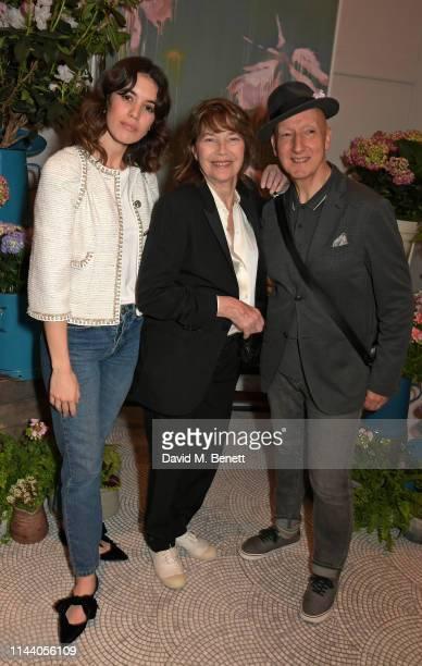 Gala Gordon Jane Birkin and Stephen Jones attend the Belmond Cadogan Hotel Summer Salon and Grand Opening supported by London Perfumer Miller Harris...