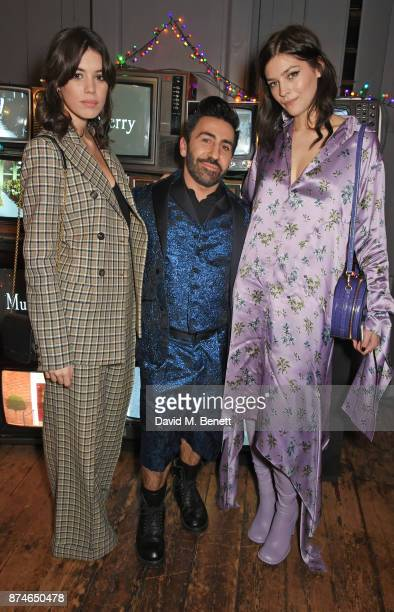 Gala Gordon Johnny Coca Mulberry's Creative Director and Amber Anderson attend Mulberry's 'It's Not Quite Christmas' party on November 15 2017 in...