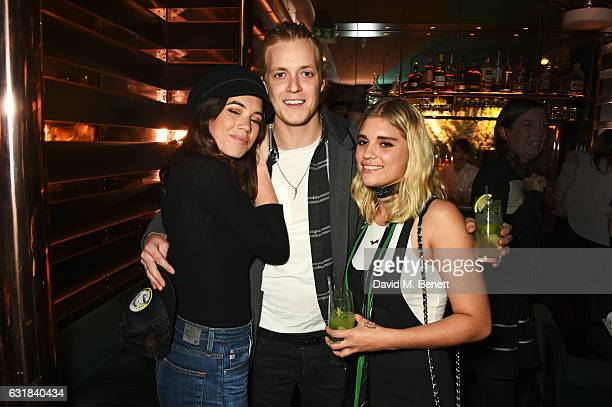 Gala Gordon Rufus Taylor and Tigerlily Taylor attend the Rodial dinner hosted by Poppy Delevingne and Maria Hatzistefanis at Casa Cruz on January 16...