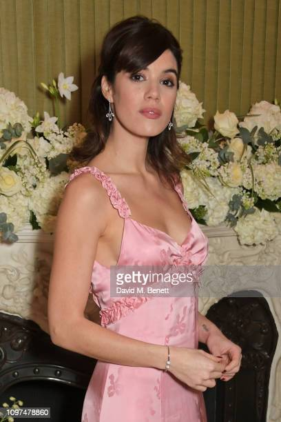 Gala Gordon wearing Tiffany Co attends the British Vogue and Tiffany Co Celebrate Fashion and Film Party at Annabel's on February 10 2019 in London...