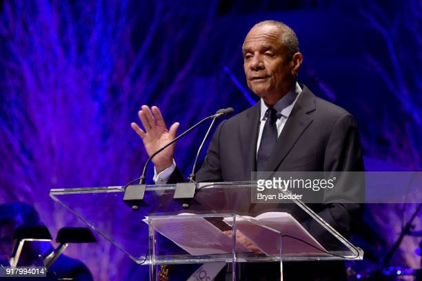Gala Honoree Kenneth Chenault accepts the Lincoln Center Laureate Award onstage at the Winter Gala at Lincoln Center at Alice Tully Hall on February...