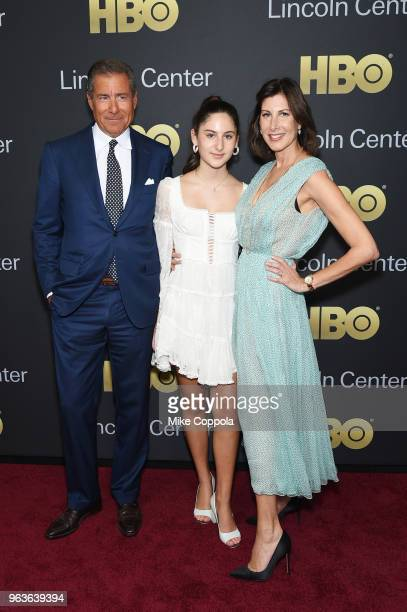 Gala honoree Richard Plepler Eden Plepler and Lisa Plepler attend Lincoln Center's American Songbook Gala at Alice Tully Hall on May 29 2018 in New...