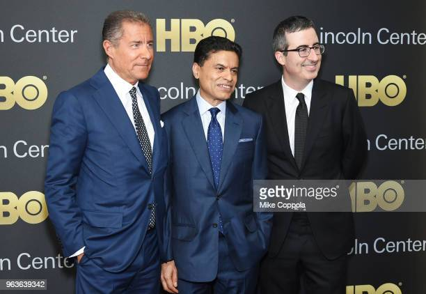 Gala honoree Richard Plepler journalist Fareed Zakaria and comedian John Oliver attend Lincoln Center's American Songbook Gala at Alice Tully Hall on...