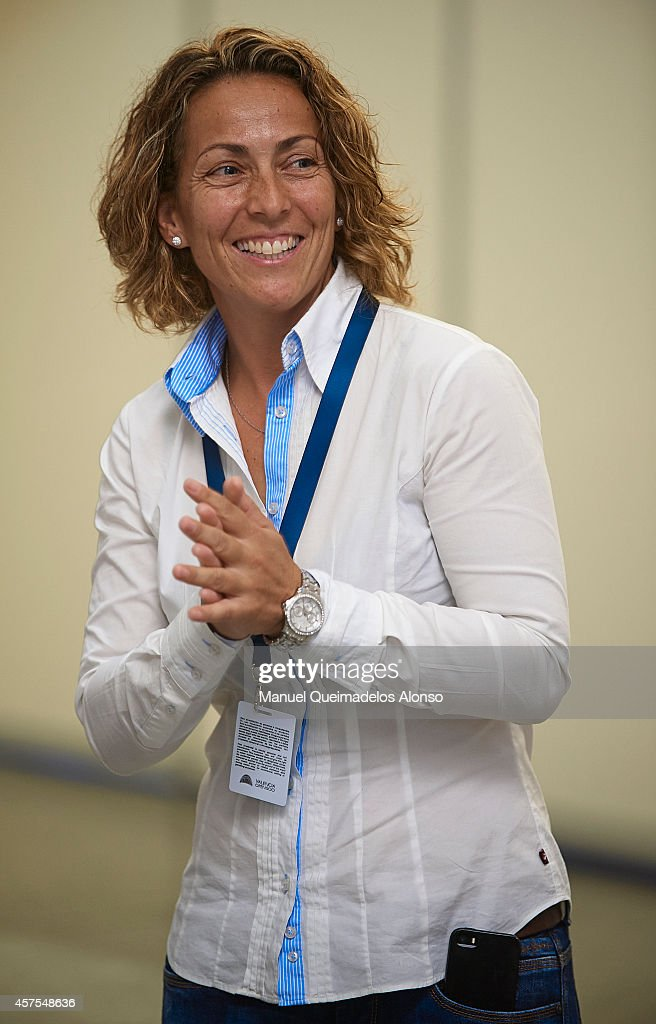 Gala Leon, captain of the Spanish Davis Cup team attends day one of the ATP 500 World Tour Valencia Open tennis tournament at the Ciudad de las Artes y las Ciencias on October 20, 2014 in Valencia, Spain.