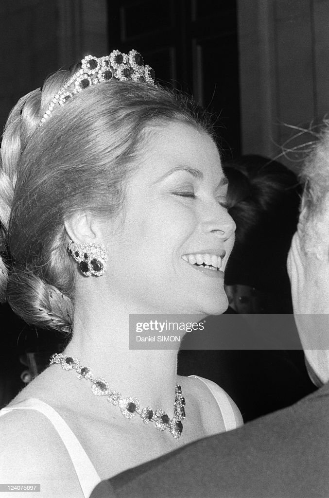 Gala Organized By The Baroness De Rothschild For The Restoration Of Versailles Castle In Versailles, France On November 28, 1973. : News Photo