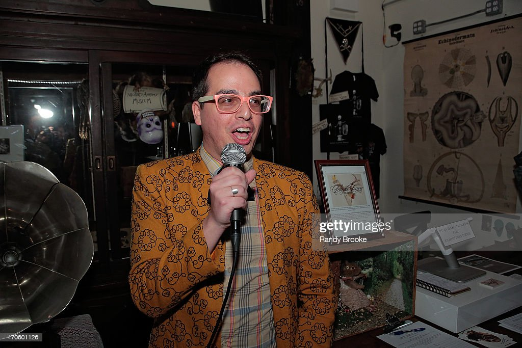 Gala planner and artistic producer John Del Gaudio attends the 2015 Morbid Anatomy Museum gala on April 21, 2015 in the Brooklyn borough of New York City.