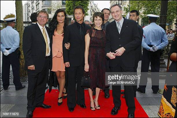 Gala RPozzo Di Borgo For CPompidou Foundation On September 9 2003 In Paris France Left To Right Remi Girard Marina Hands Stephane Rousseau MarieJose...