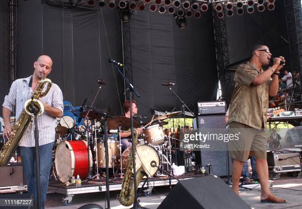 Galactic during 2003 Bonnaroo Music Festival Day Three at Bonnaroo Fairgrounds in Manchester Tennessee United States