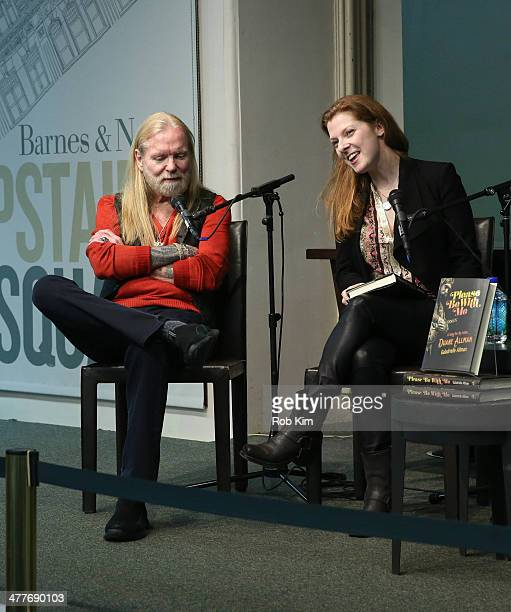 Galadrielle Allman and Gregg Allman discuss about new book Please Be with Me A Song for My Father Duane Allman at Barnes Noble Union Square on March...
