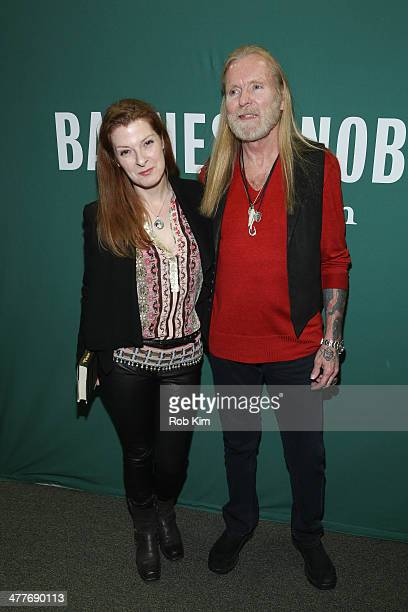Galadrielle Allman and Gregg Allman promote new book Please Be with Me A Song for My Father Duane Allman at Barnes Noble Union Square on March 10...