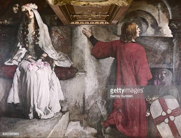 Galahad Leaving Blanchefleur by Edwin Austin Abbey
