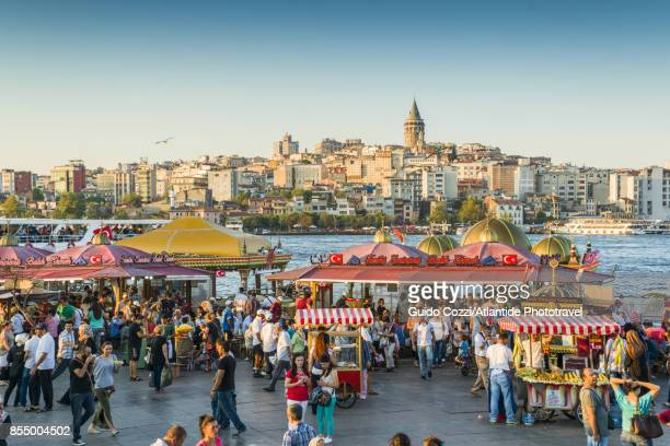 Galata Bridge, a very popular place to eat fresh fish