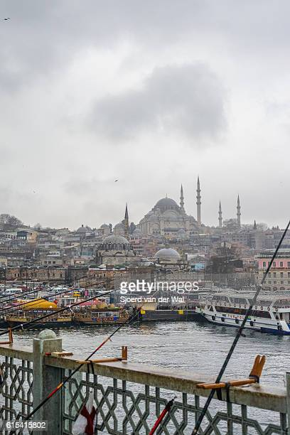 "galata bridge and süleymaniye mosque in istanbul - ""sjoerd van der wal"" stock-fotos und bilder"