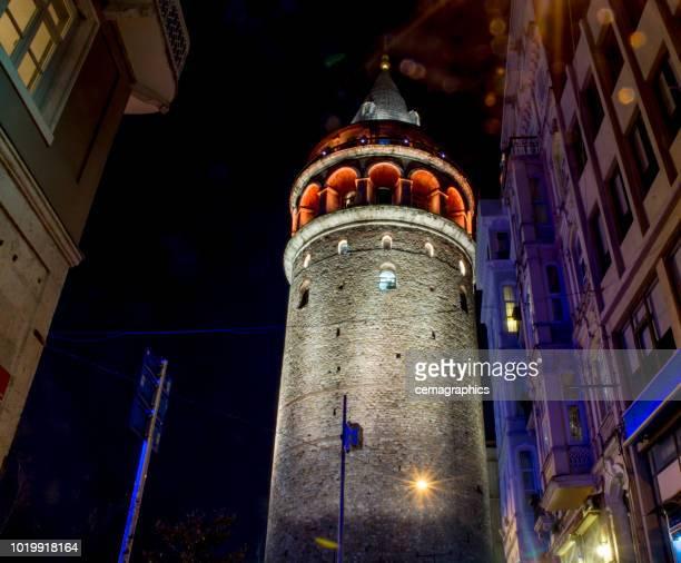 Galata Tower at Midnight