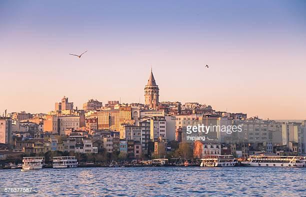 Galata Tower in Karakoy, Istanbul, Turkey
