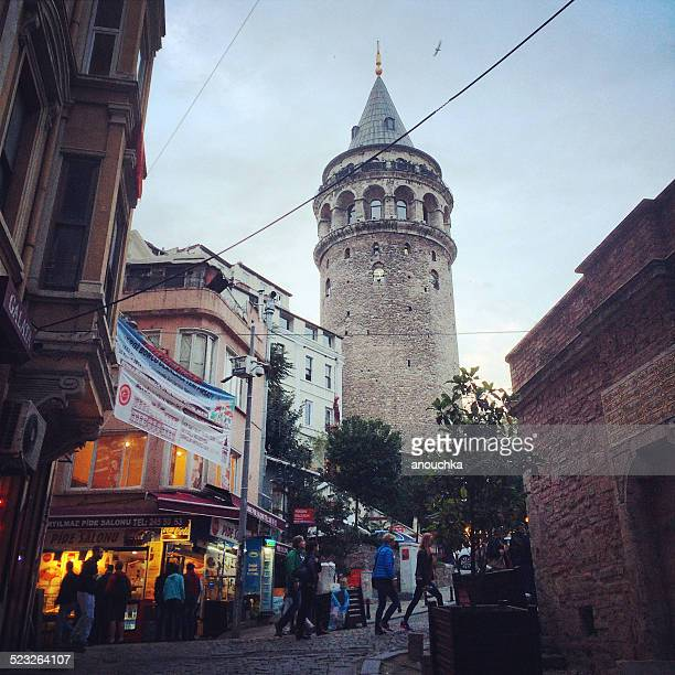 Galata Tower in the evening, Istanbul