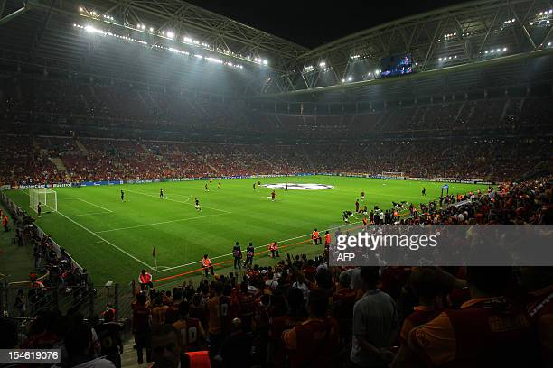 Galatasaray Turk Telokom Arena is pictured on October 23 during the Champions League match between Galatasaray and Cluj in Istanbul AFP PHOTO/STR