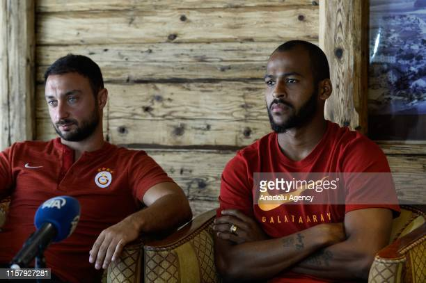 Galatasaray's Brazilian defender, Marcao speaks during an exclusive interview within summer camp as part of the Turkish Super Lig new season...
