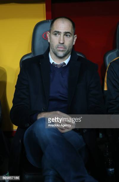 Galatasaray's head coach Igor Tudor watches the Turkish Super Lig match between Galatasaray and Genclerbirligi at Ali Sami Yen Sports Complex in...