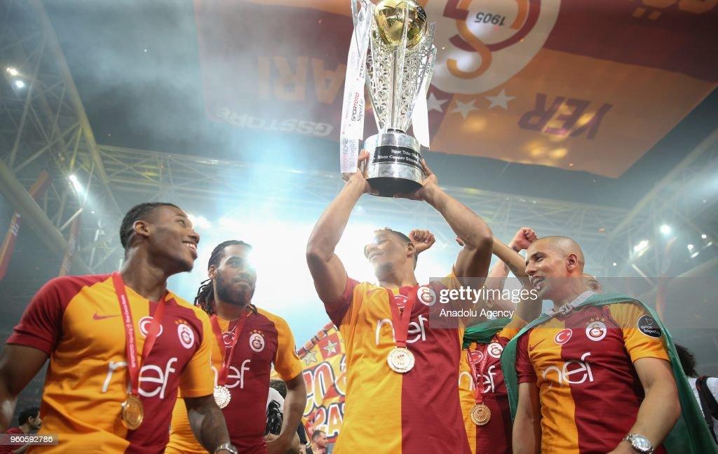 Galatasaray celebrates Turkish Super League championship : Foto di attualità