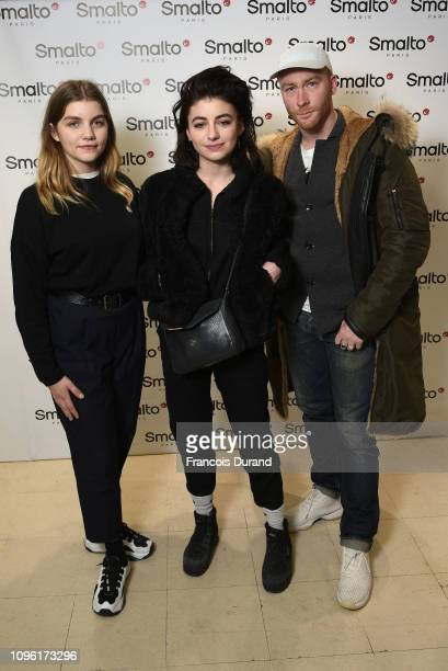 Galatea Bellugi Alba Gaia Bellugi and Oscar Copp attend Smalto Presentation during Paris Menswear Fashion Week on January 18 2019 in Paris France