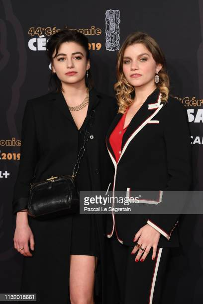 Galatea Bellugi and a guest arrive at the Cesar Film Awards 2019 at Salle Pleyel on February 22 2019 in Paris France