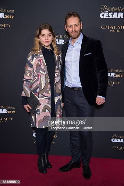 Galatea Bellugi and Guillaume Senez attend the 'Cesar Revelations 2017' on January 16 2017 in Paris France