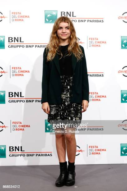 Galatea Bellugi attends 'Il Ragazzo Invisibile Seconda Generazione' photocall during the 12th Rome Film Fest at Auditorium Parco Della Musica on...