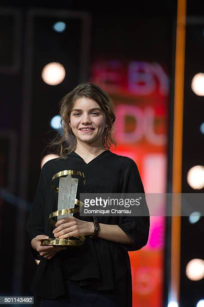 Galatea Bellugi awarded best performance by an actress during the ceromony award of the 15th Marrakech International Film Festival on December 12...