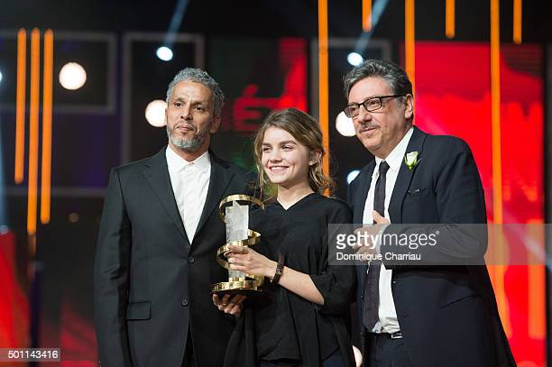 Galatea Bellugi awarded by Sami Bouajila best performance by an actress during the ceromony award of the 15th Marrakech International Film Festival...