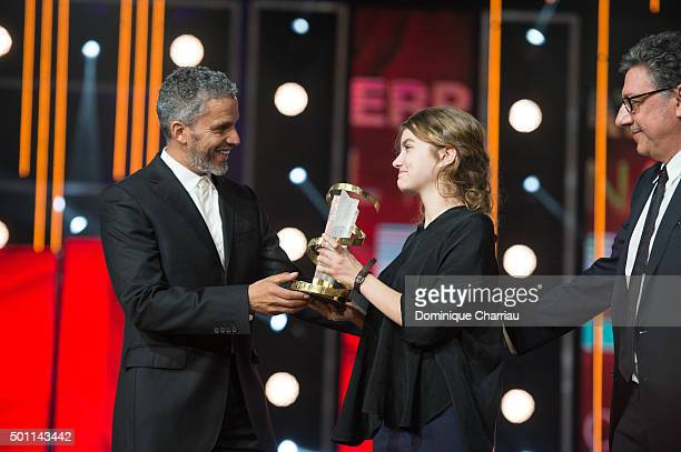 Galatea Bellugi awartded by Sami Bopuajila best performance by an actress during the ceromony award of the 15th Marrakech International Film Festival...