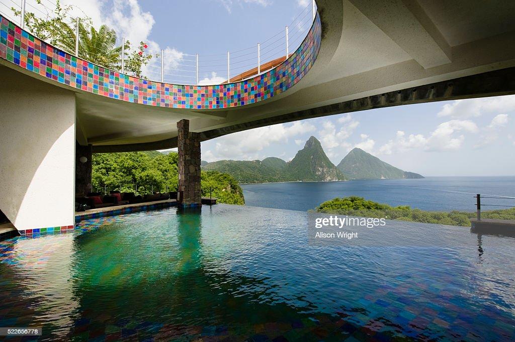 Galaxy Bar At Jade Mountain Resort On St Lucia Stock Photo