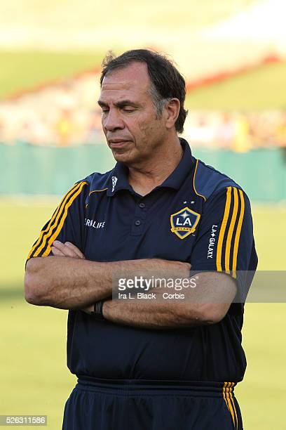 LA Galaxy Head Coach Bruce Arena prior to the Herbalife World Football Challenge Friendly match between LA Galaxy and Real Madrid Real Madrid won the...