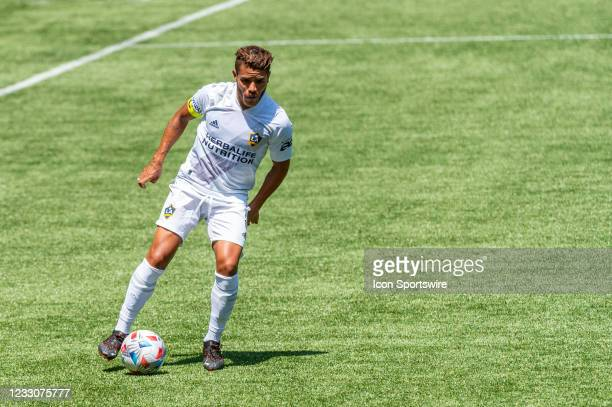 Galaxy midfielder Jonathan dos Santos looks for a through ball during the Portland Timbers MLS match versus the LA Galaxy on May 22 at Providence...