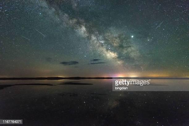 内モンゴルの草原の銀河、中国 - 無限 ストックフォトと画像