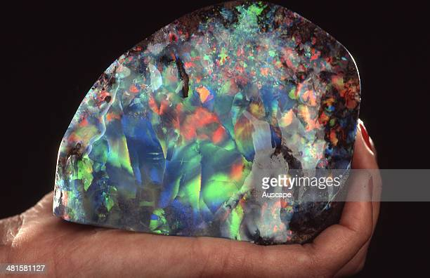 Galaxy Opal in hand found in Brazil the Galaxy Opal is the largest polished opal in the world cut from a chunk of opal the size of a grapefruit
