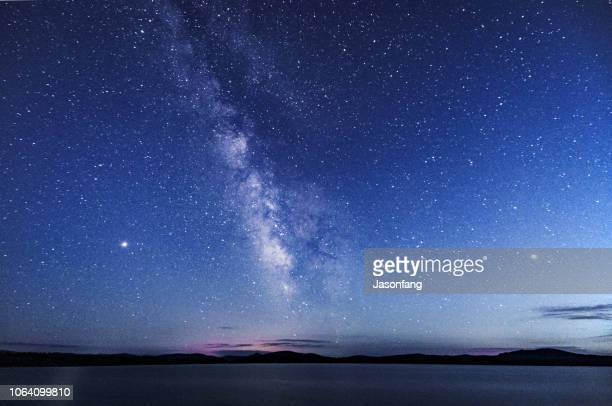 galaxy - horizon stock pictures, royalty-free photos & images