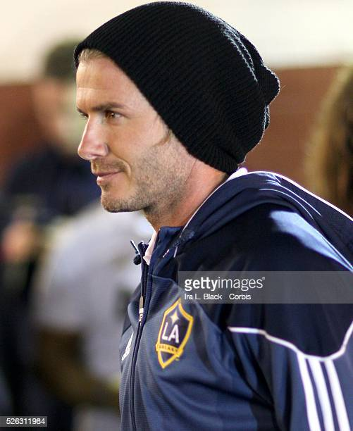 LA Galaxy player David Beckham after the Herbalife World Football Challenge Friendly match between LA Galaxy and Real Madrid Real Madrid won the...