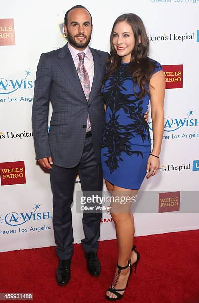 LA Galaxy Soccer Player Landon Donovan and girlfriend Hannah Bartell attend the MakeAWish Greater Los Angeles Wishing Well Winter Gala at the Beverly...