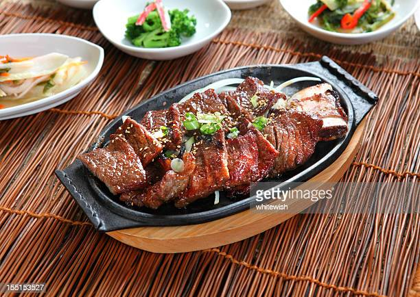 galbi - korea stock pictures, royalty-free photos & images