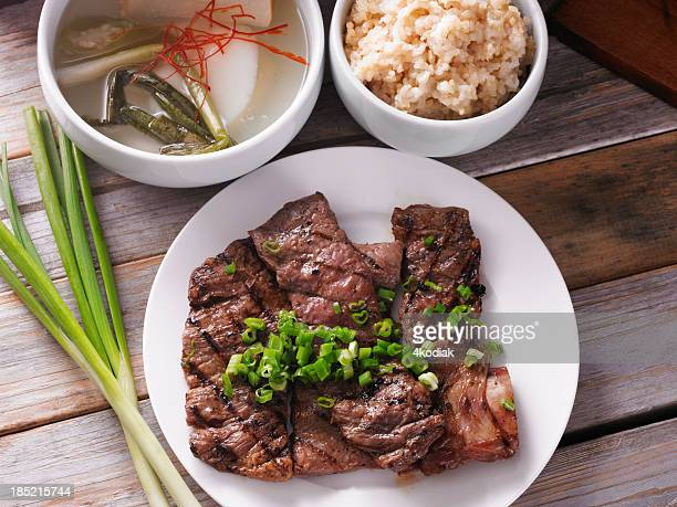 galbi - korean food stock pictures, royalty-free photos & images