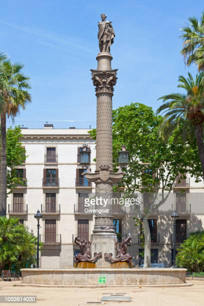 galceran marquet column in barcelona - gwengoat stock pictures, royalty-free photos & images