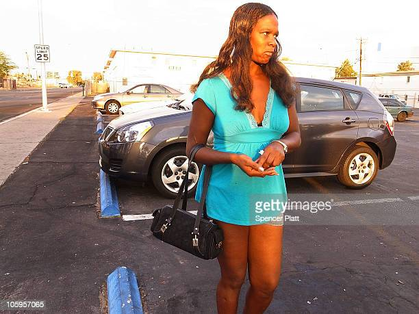 Gale an unemployed former restaurant worker works as a prostitute on Las Vegas Boulevard on October 22 2010 in Las Vegas Nevada Nevada once had among...