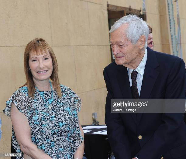 Gale Ann Hurd and Roger Corman attend the 6th Annual Etheria Film Showcase held at American Cinematheque's Egyptian Theatre on June 29 2019 in...
