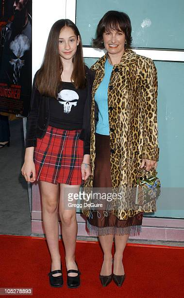Gale Anne Hurd and daughter Lolita during 'The Punisher' Los Angeles Premiere Arrivals at Arclight Cinerama Dome in Hollywood California United States