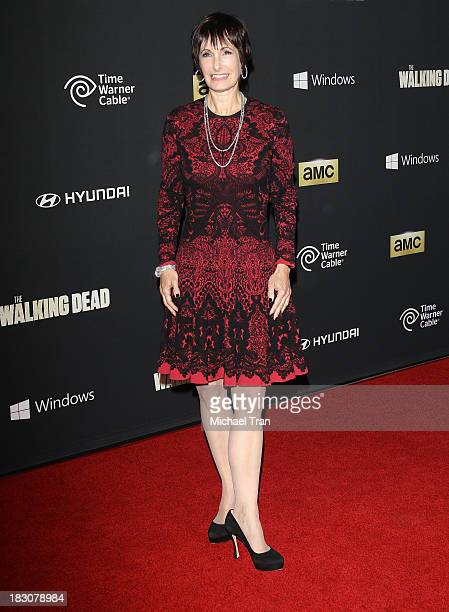 Gale Anne Hurd arrives at the Los Angeles premiere of AMC's The Walking Dead 4th season held at Universal CityWalk on October 3 2013 in Universal...